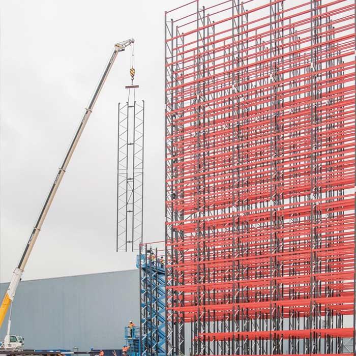Stahlbau für Hochregallager durch die AM Logistic Solutions